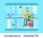 industrial mountaineering... | Shutterstock .eps vector #366606755
