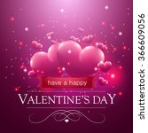 happy valentine's day message ... | Shutterstock .eps vector #366609056