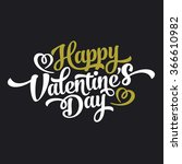 happy valentines day hand... | Shutterstock .eps vector #366610982