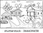 coloring page   the three... | Shutterstock .eps vector #366634658