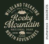 mountain trekking adventure... | Shutterstock .eps vector #366638156