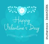 valentine's day celebration... | Shutterstock .eps vector #366642086