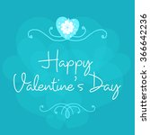 valentine's day celebration... | Shutterstock .eps vector #366642236