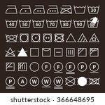 set of washing symbols  laundry ... | Shutterstock .eps vector #366648695