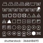 Set Of Washing Symbols  Laundr...