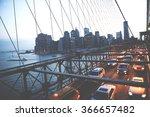 brooklyn bridge new york city... | Shutterstock . vector #366657482