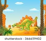 cartoon cute stegosaurus posing ... | Shutterstock .eps vector #366659402
