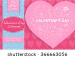 valentine's day line icons.... | Shutterstock .eps vector #366663056