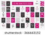 collection of 40 cards of love... | Shutterstock .eps vector #366663152