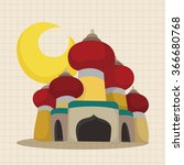 fairytale aladdin story theme... | Shutterstock .eps vector #366680768