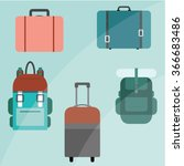 bags  luggage   Shutterstock .eps vector #366683486
