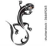 vector lizard tattoo   Shutterstock .eps vector #36669265