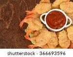 Closeup Shrimp With Seafood...