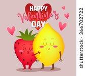 postcard valentine's day.... | Shutterstock .eps vector #366702722