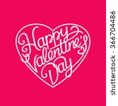 happy valentine's day card.... | Shutterstock .eps vector #366704486