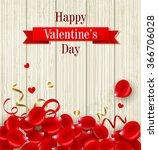 romantic valentine's day card... | Shutterstock .eps vector #366706028