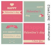 happy valentine's day cards... | Shutterstock .eps vector #366719912