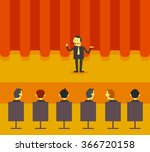 man present on stage | Shutterstock .eps vector #366720158