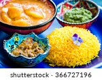 colorful vegan indian food on... | Shutterstock . vector #366727196
