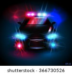 light from a police car on a... | Shutterstock .eps vector #366730526