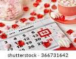 calendar valentines day and... | Shutterstock . vector #366731642