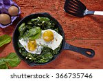 Fried Eggs With Spinach And...