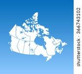 map of canada | Shutterstock .eps vector #366743102