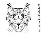 ethnic animal. tribal patterned ... | Shutterstock .eps vector #366744422