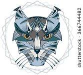 ethnic animal. tribal patterned ... | Shutterstock .eps vector #366744482