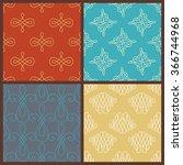 set of seamless calligraphic... | Shutterstock .eps vector #366744968