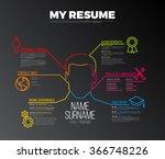 vector original minimalist cv   ... | Shutterstock .eps vector #366748226