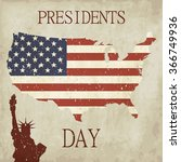 Presidents Day Background. Map...