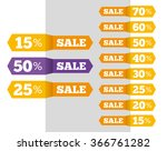 vector sale labels tags... | Shutterstock .eps vector #366761282