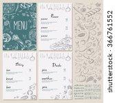 restaurant food menu vintage...   Shutterstock .eps vector #366761552