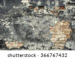 grey faded aged brick wall... | Shutterstock . vector #366767432