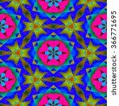 abstract fractal kaleidoscopic... | Shutterstock . vector #366771695