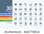 set of organisms icons | Shutterstock .eps vector #366776816