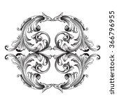 vintage baroque frame scroll... | Shutterstock .eps vector #366796955