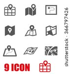 vector black map icon set. | Shutterstock .eps vector #366797426