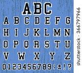 grunge abc alphabet vintage... | Shutterstock .eps vector #366797966