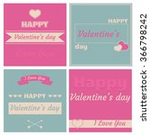happy valentine's day cards... | Shutterstock .eps vector #366798242