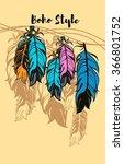 vector illustration colored... | Shutterstock .eps vector #366801752