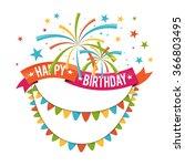vector illustration of birthday ... | Shutterstock .eps vector #366803495