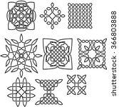 set of ornate vector celtic... | Shutterstock .eps vector #366803888