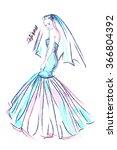 business cards of wedding...   Shutterstock .eps vector #366804392