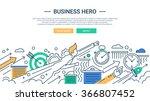illustration of vector modern... | Shutterstock .eps vector #366807452