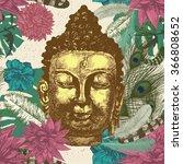 seamless hand drawn pattern... | Shutterstock .eps vector #366808652