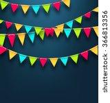 illustration party dark... | Shutterstock .eps vector #366813356