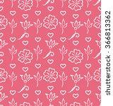 illustration pink ornate... | Shutterstock .eps vector #366813362