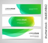 set of vector banners design... | Shutterstock .eps vector #366814862